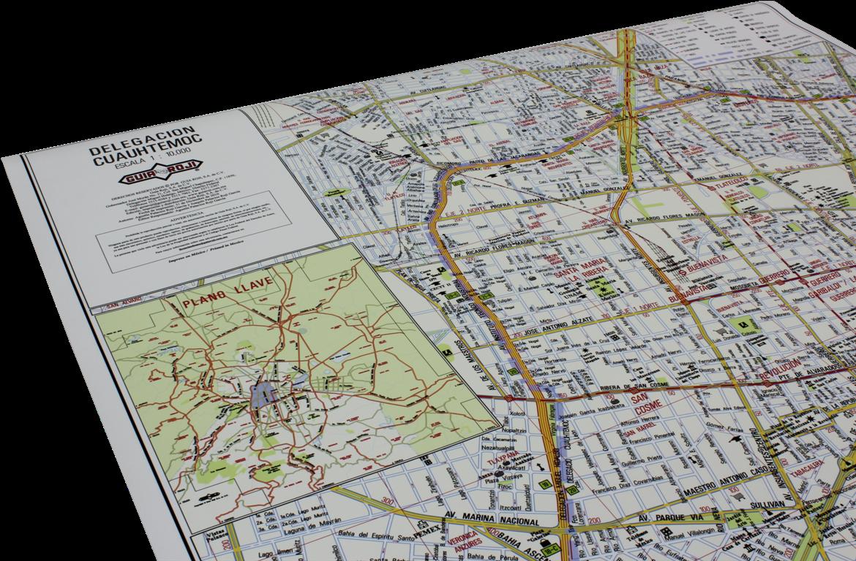 Mapas de las 16 delegaciones de la