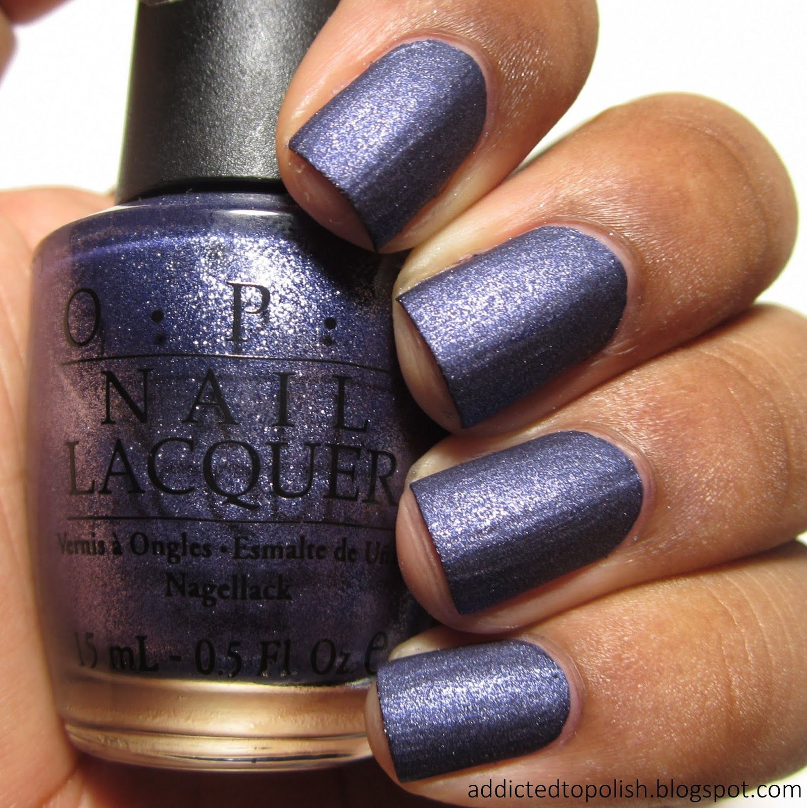 Opi Ink Suede Addicted To Polish