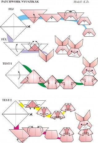 Origami egyszerűen - Képgaléria - Diagrammok - Húsvét 2009 ... - photo#23