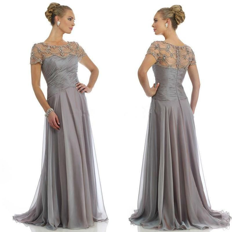 stunning plus size mother bride dresses crystals beaded cap sleeve