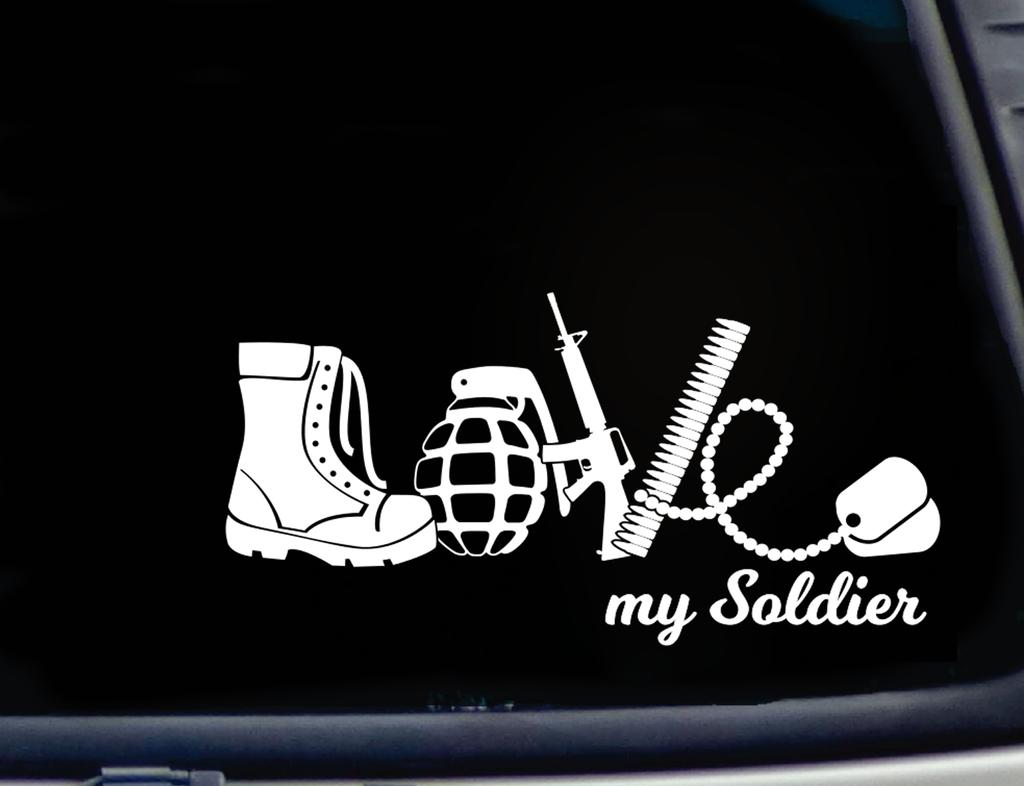 Love My Soldier Decal Sticker 7 Height Decals Stickers Soldier Stickers [ 786 x 1024 Pixel ]