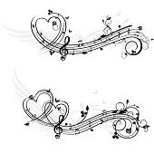 Themen Musik-design-Elemente-Liebe