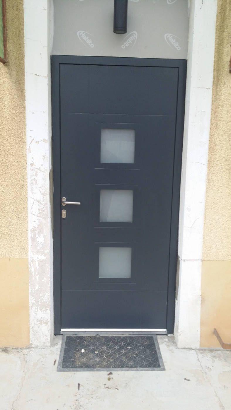 Porte D Entree En Aluminium Sur Mesure Andros Toutes Couleurs Porte Entree Aluminium Porte D Entree Porte Entree Alu