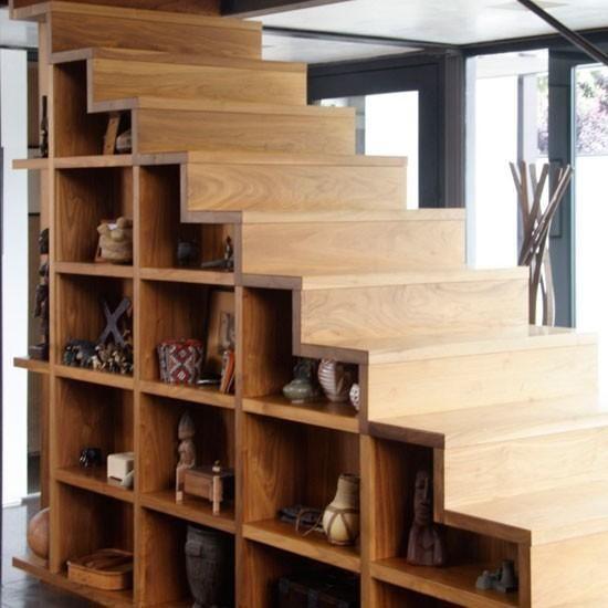 ideas para cambiar el look a una escalera - Como Hacer Escaleras De Madera