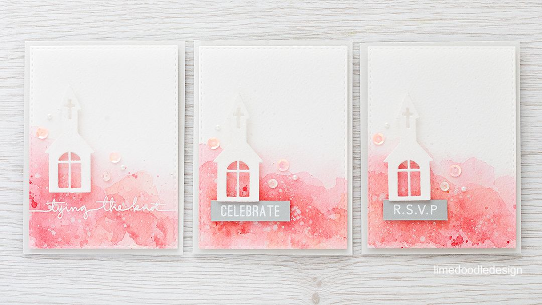 Watercolor wedding card set. Find out more by clicking on the following link…
