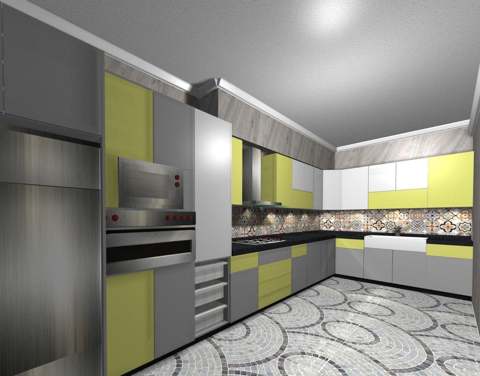 Tarek #6ddesign #kitchens #decoration #kuwait  Modern kitchen