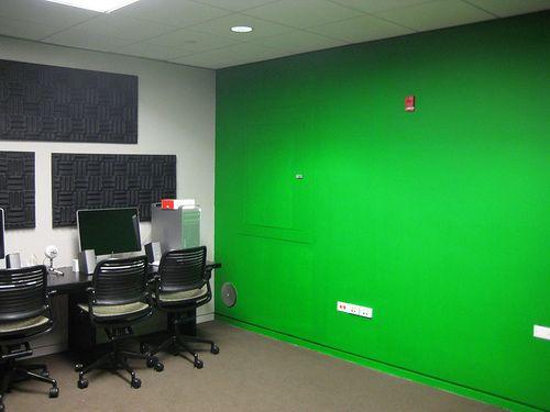 Green Screen Greenscreen Screen House Wall Spaces
