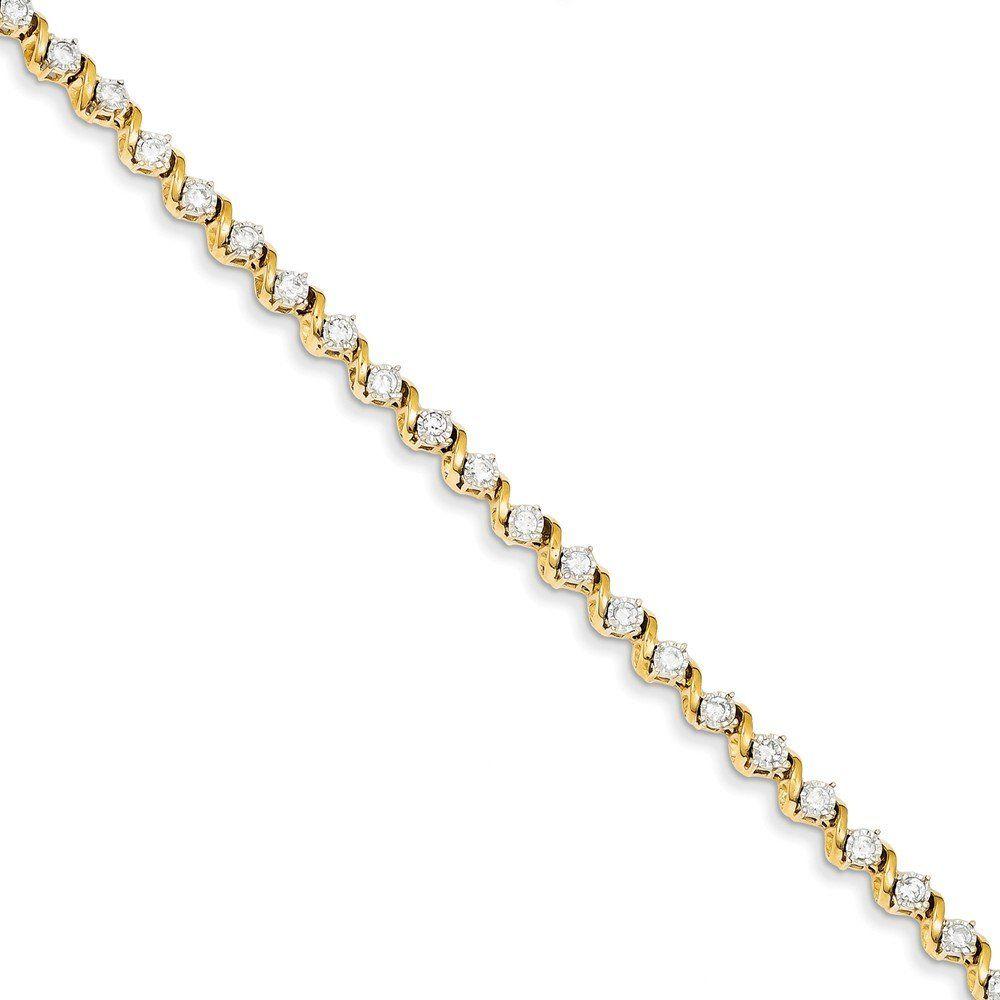 K yellow gold cttw diamond bracelet