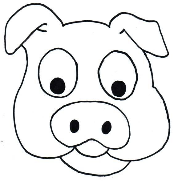 Pig Head Free Coloring Pages Printable Cute Animals With Funny