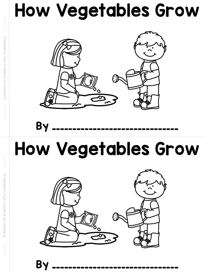 Planting & Gardening Vegetables {printable book