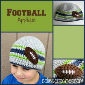 d30602ee250 FREE Pattern Football Applique