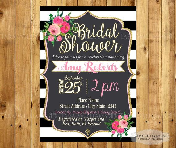Kate Spade Inspired Bridal Shower Invitation By
