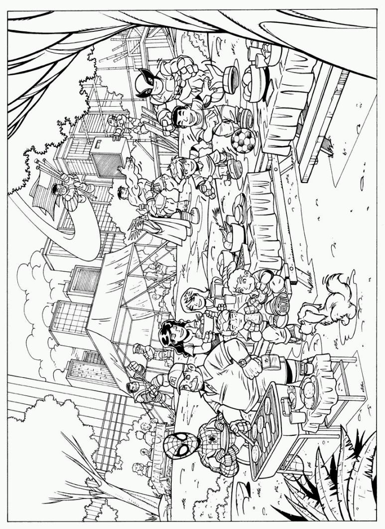 Marvel Superhero Coloring Pages | Coloring Pages | Pinterest ...