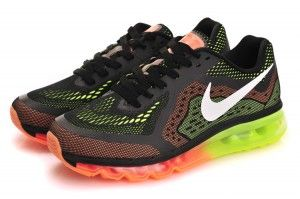Nike Air Max 2014 negro naranja Hombre verdes fluorescentes ... 47abf7e036f73
