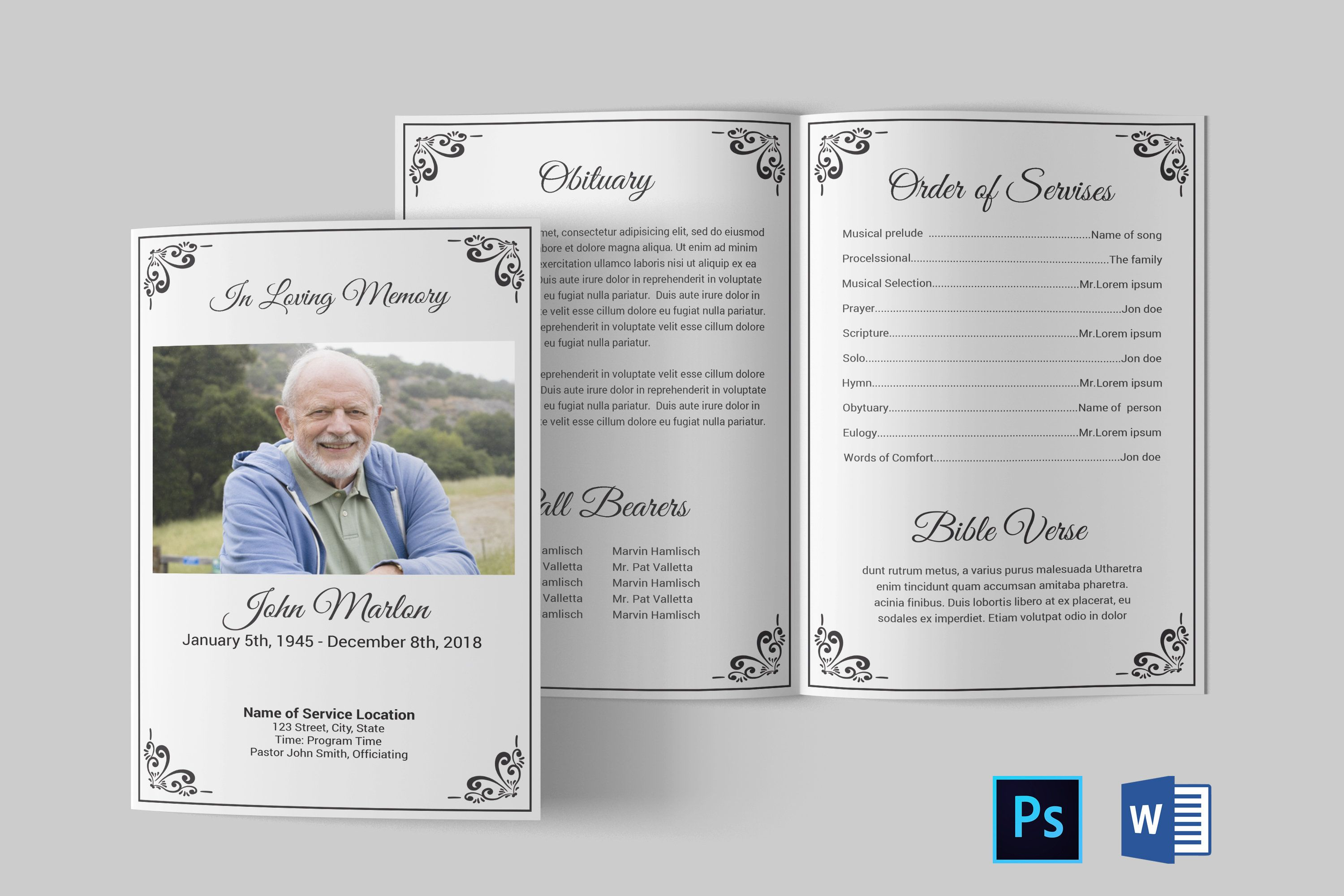 Pin By Wanda Tucker On Funeral Program Template Funeral Program Template Obituaries Template Funeral Programs