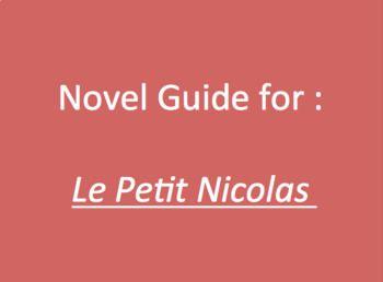 le petit nicolas guide for entire novel french literature units