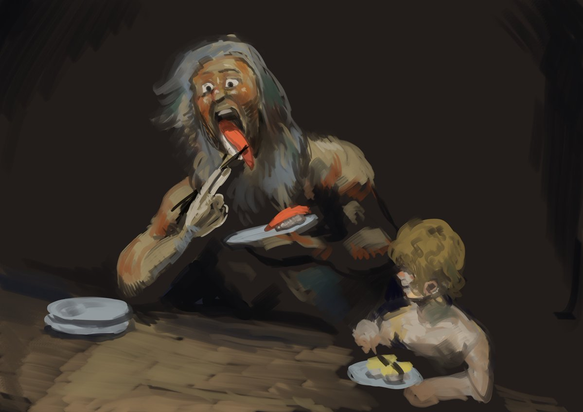 A Funny Take On Goya S Painting Saturn Devouring His Son This Is