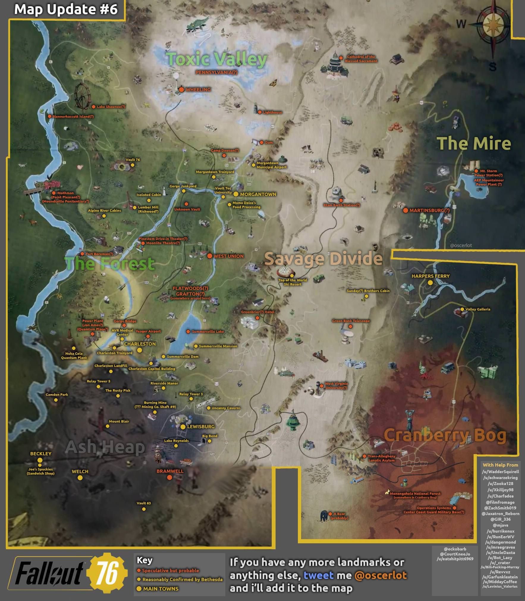 Fallout fans are building their own Fallout 76 map using scattered ...