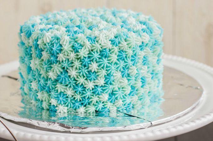 Easy Star Tip Cake Decorating Idea Ocean Theme Bolo De