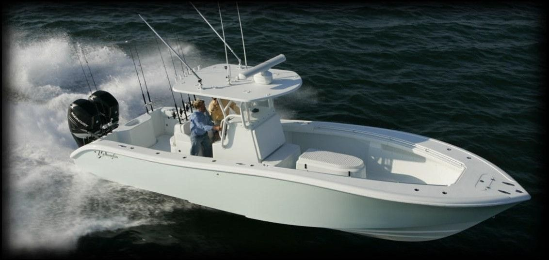 Yellowfin yachts center console builder of high for Offshore fishing boat manufacturers