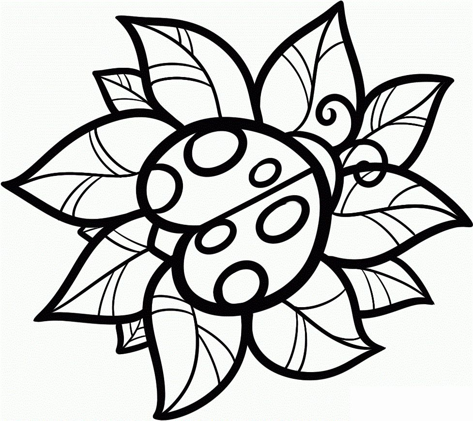 Easy Cute Coloring Pages Elegant Color Pages Of Cute Easy Animal In 2020 Ladybug Coloring Page Insect Coloring Pages Bug Coloring Pages