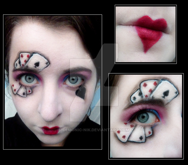 spade card face paint  all facepaint…. | Playing card costume, Card costume ...