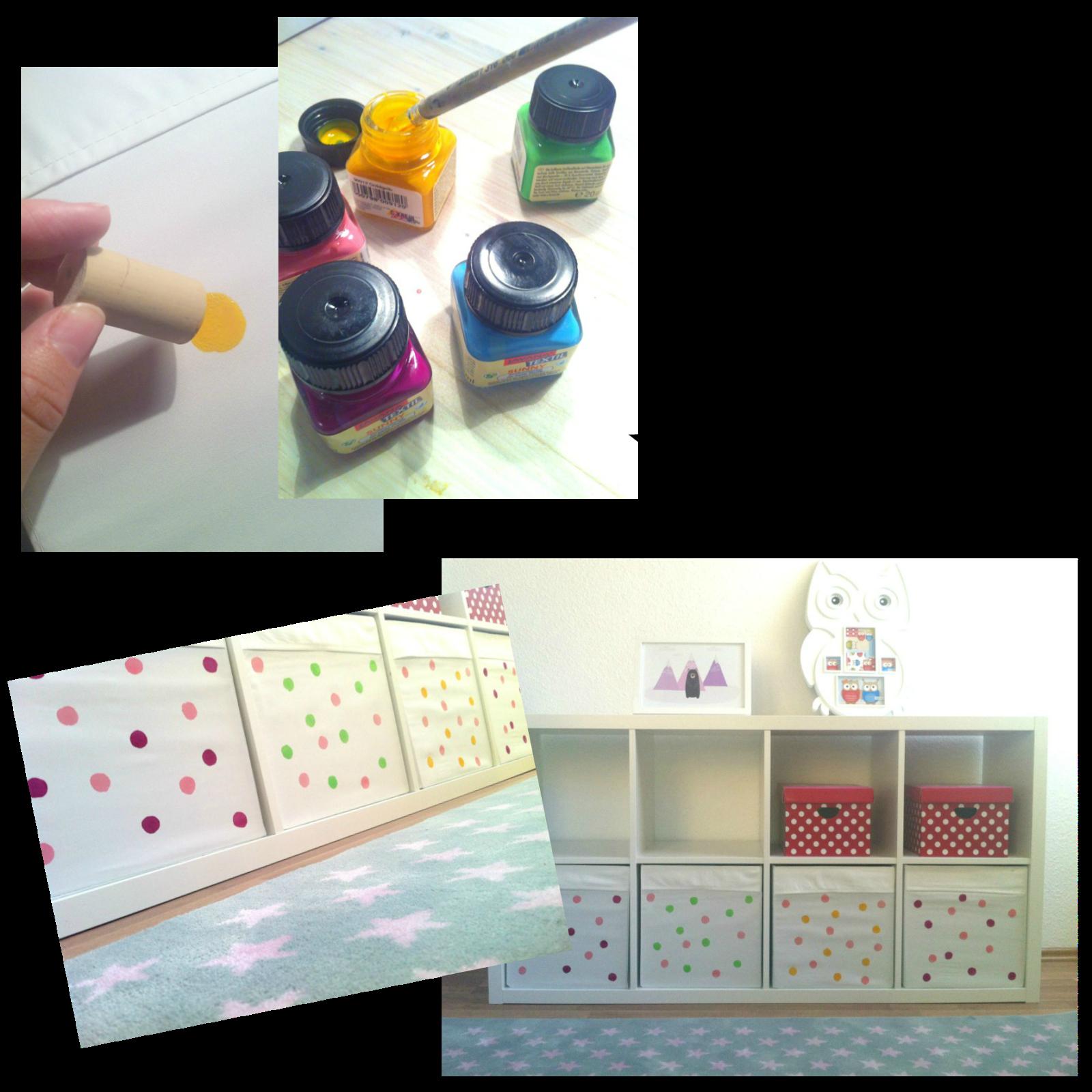 diy spielzeugkisten selbst gestalten mit knalligen punkten mehr farbe ins kinderzimmer. Black Bedroom Furniture Sets. Home Design Ideas