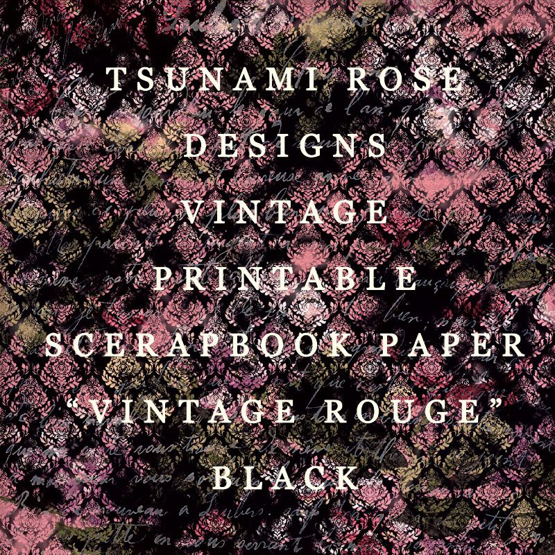 0010 vintage printable scrapbook paper by tsunamirose