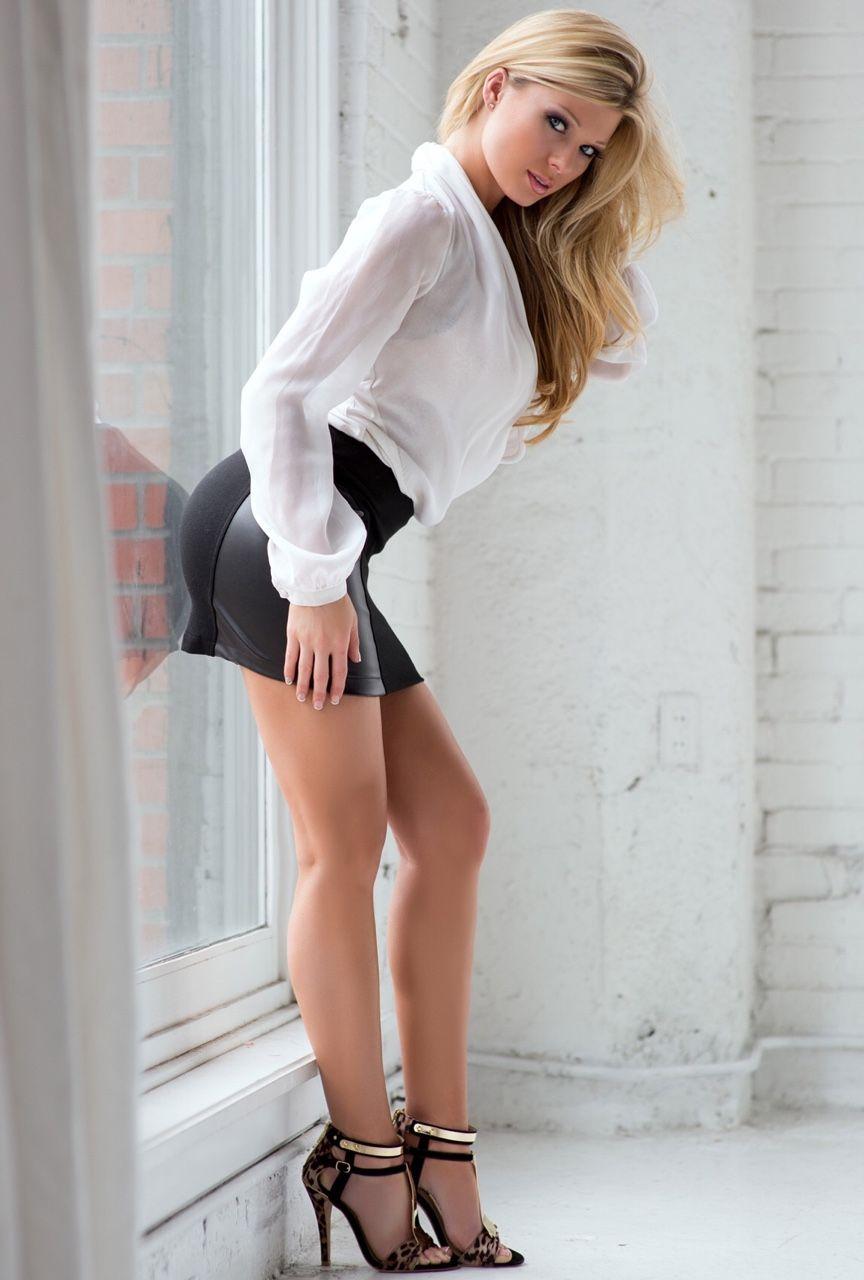 blonde girls skirts Sexy short