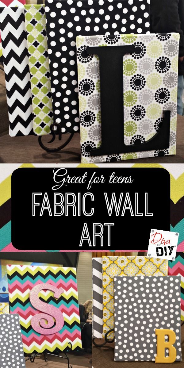 How to Create Beautiful Fabric Wall Art on a Dime Letras decoradas - paredes con letras