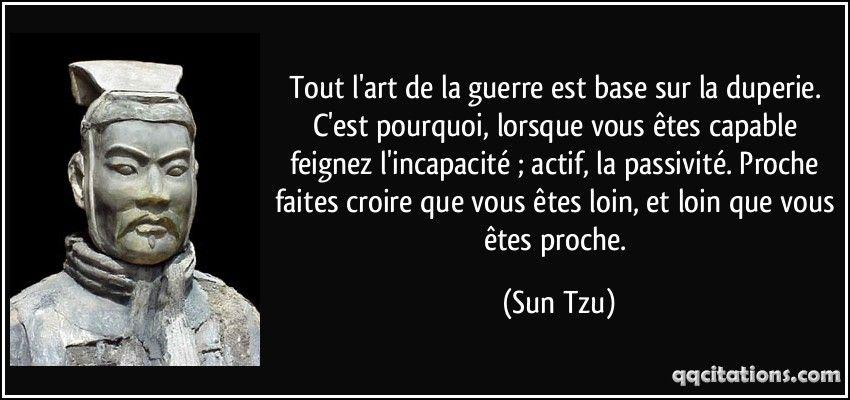 Sun Tzu Citation Sun Tzu Et Art De La Guerre