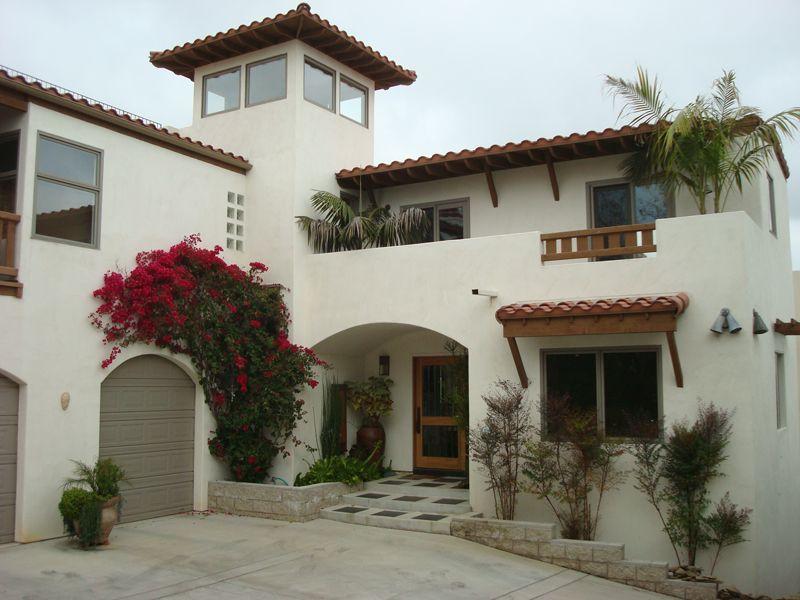 Santa barbara style homes exterior paint colors for Spanish revival exterior paint colors