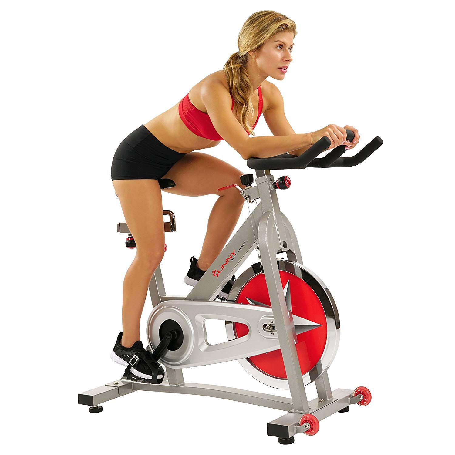 Sunny Health Fitness Pro Indoor Cycling Bike Best Indoor Cycle Review Best Exercise Bike Cycling Workout Indoor Cycling Bike