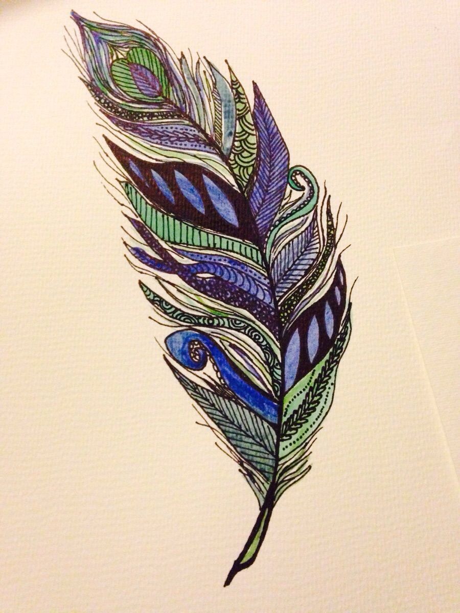 Feather Art Work #feather #zentangle #artwork Feathers In 2019 Drawing
