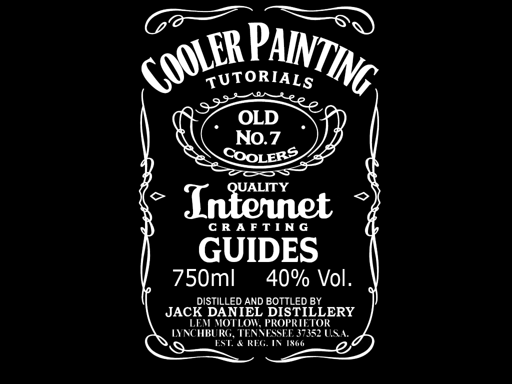 Custom Jack Daniel S Template Cooler Painting Ideas Tutorial Guide Step By Step Photoshop Detail Jack Daniels Label Jack Daniels Logo Label Templates