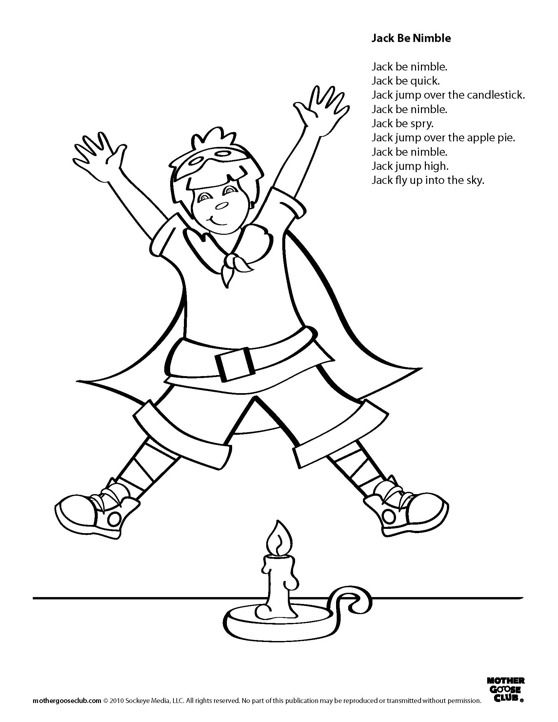 Coloring Pages Jack Be Nimble Live Speakaboos Worksheets Kids