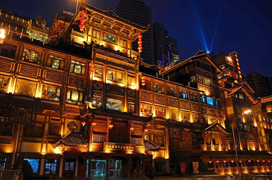 千と千尋の神隠しの舞台 その3 洪崖洞 中国 中国建築 旅 風景