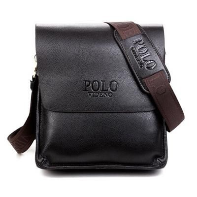 0ff9b5a5cb1b POLO Men Shoulder Bags Famous Brand Casual Business PU Leather Mens  Messenger Bag Vintage Men s Crossbody Bag bolsa male handbag