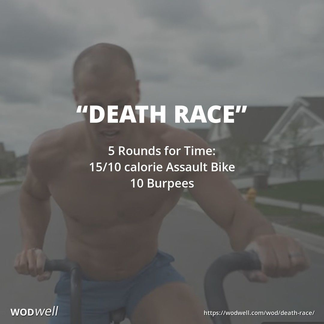 5 Rounds For Time 15 10 Calorie Assault Bike 10 Burpees Wod