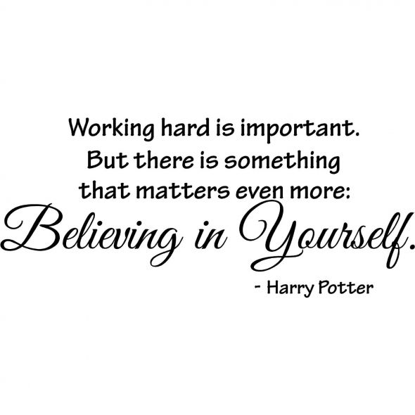 "Hard Work Quotes Pinterest: Harry Potter Wall Quote, ""Working Hard Is Important"