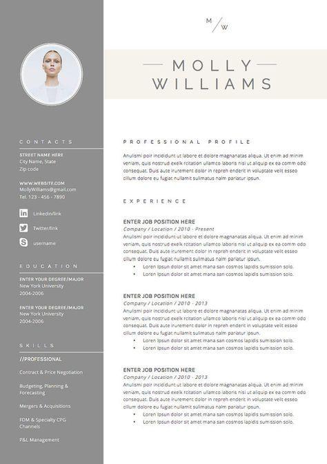 curriculum vitae mod u00e8le 4 page