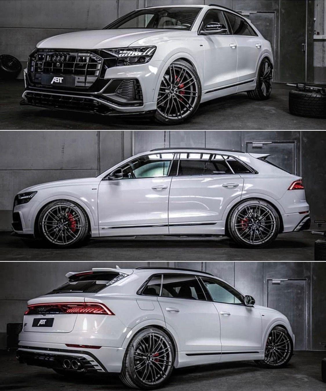 Audi Q8 White Custom Modified By Abt In 2020 Audi Audi Suv Audi Q