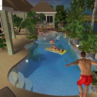 Superb 3D Pool Design