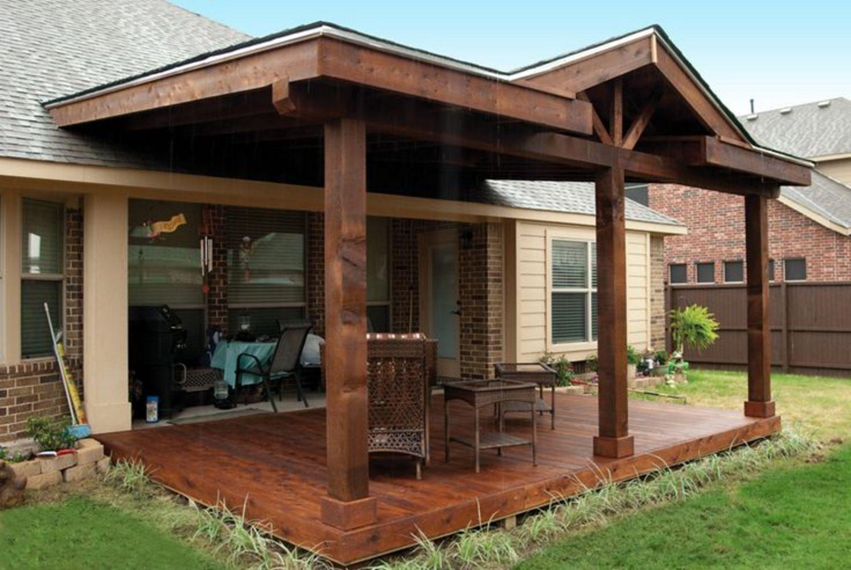 30 Gorgeous Farmhouse Front Porch Design Ideas Freshouz Com Covered Patio Design Farmhouse Patio Patio Deck Designs Backyard deck ideas not attached to house