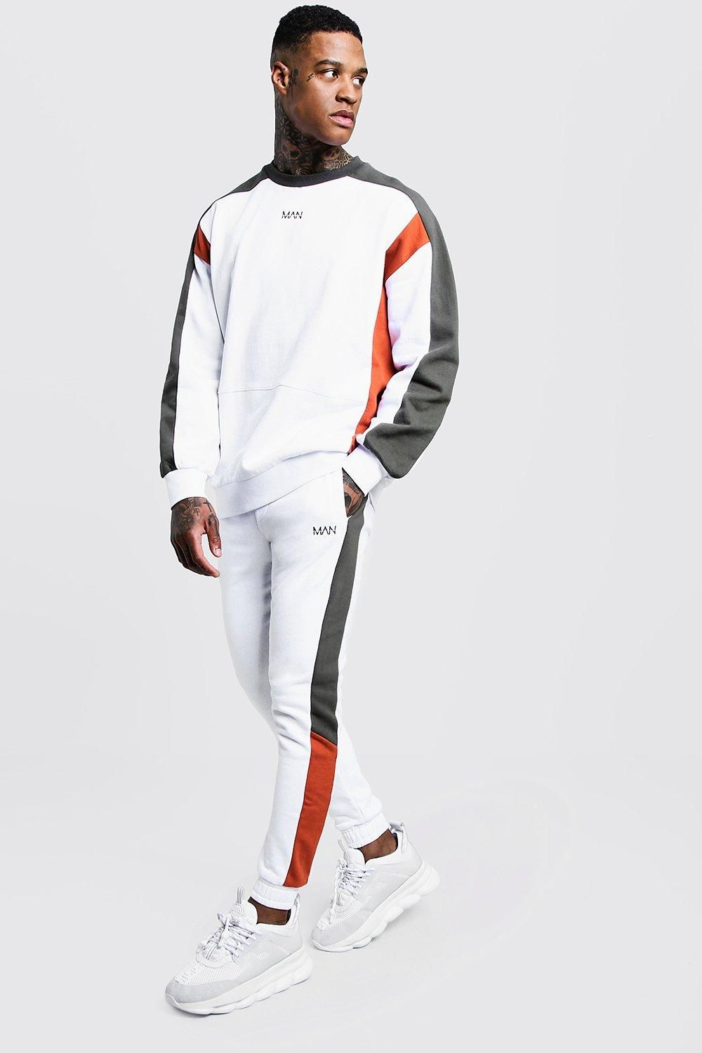 0e46d68238c1 MAN Sweater Tracksuit With Contrast Panels in 2019 | Art | Men ...