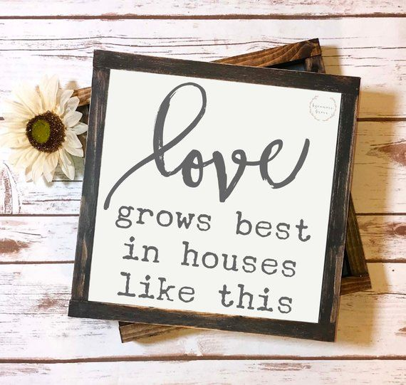 Download Love grows best in houses like this, wood sign stencil ...