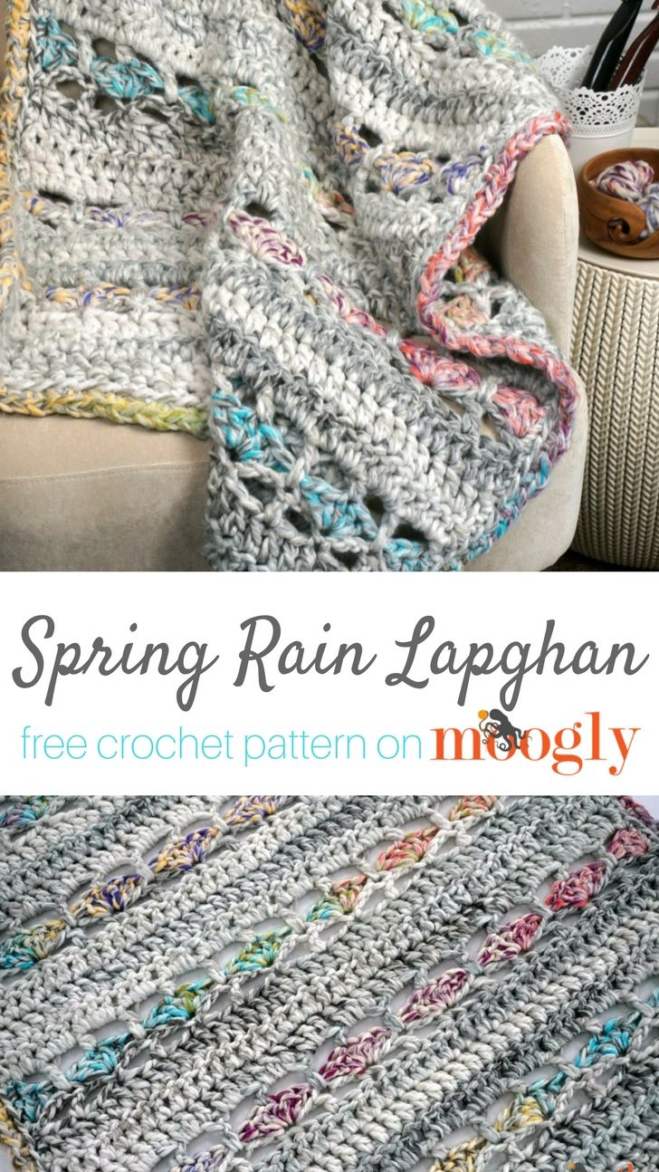 Spring Rain Lapghan - free crochet pattern on Moogly featuring Red ...