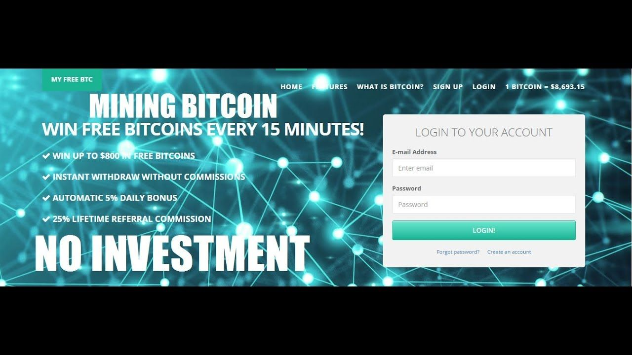EARN FREE BITCOIN BY ROLL & MINING SITE MY FREE BTC | NO