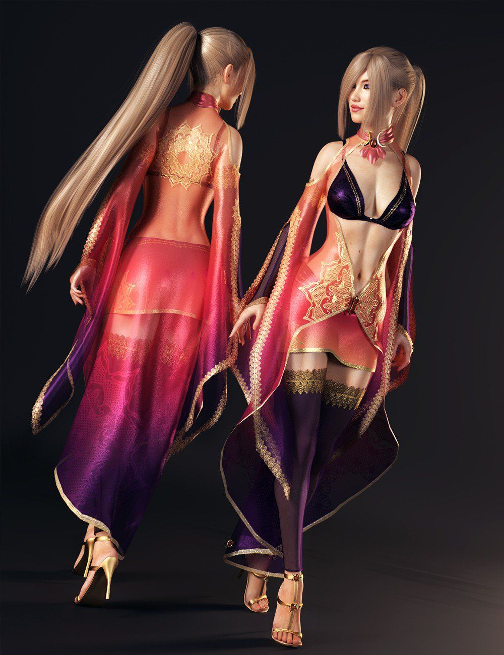 dForce Twilight Sorceress Outfit for Genesis 8 Female(s