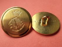 8 METALLKNÖPFE gold 21mm (2422-3) Knöpfe Metall